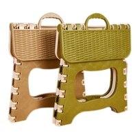 Plastic Folding 6 Type Thicken Step Portable Child Stools Green gray color random 25*18*20cm
