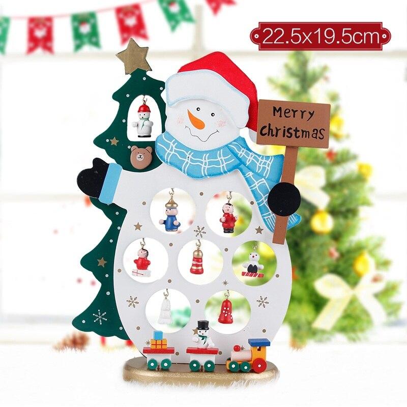 Enthousiast Gratis Verzending Kerst Hout Decoratie Diy Tafel Top Voor Party Home Bar Kerstboom Herten Sneeuwpop Ornament Aanwezig Festival Rijk En Prachtig