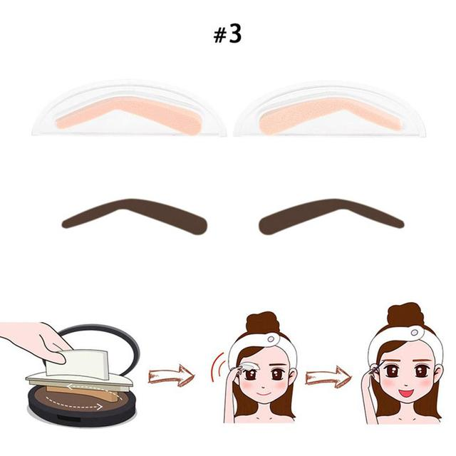 BellyLady 2Pcs Fashion Sponge Eyebrow Stamps for Eye Makeup 5