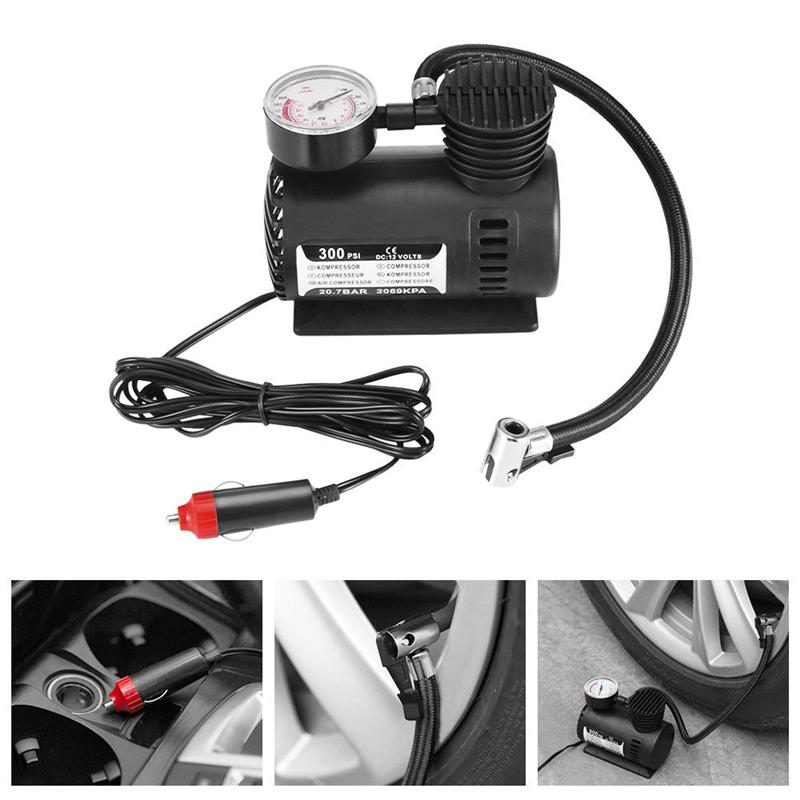 Mains powered car tyre inflator pvc inside cutter