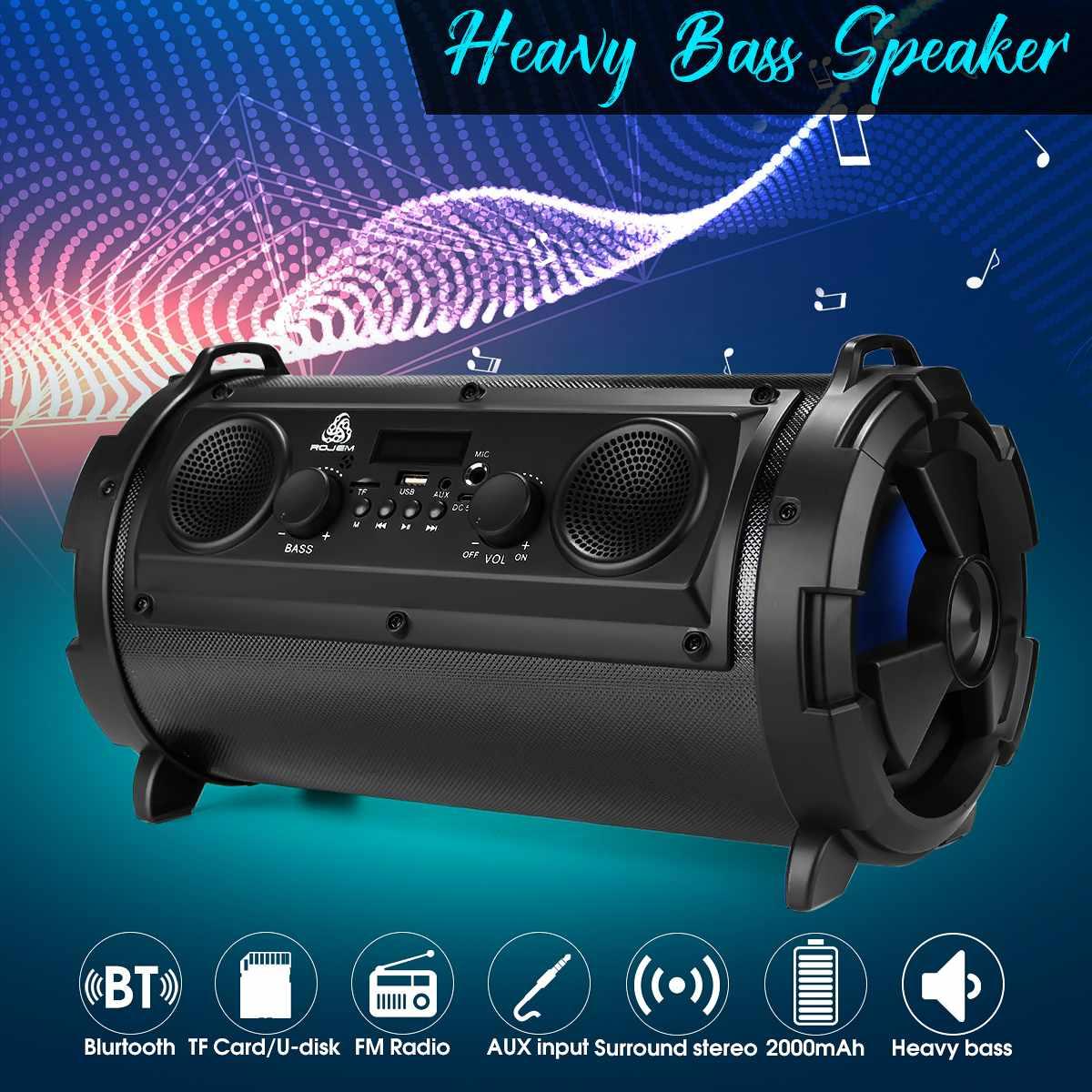 Hifi extérieur Portable sans fil bluetooth haut-parleur 15 W déplacer KTV 3D stéréo basse lourde Subwoofer FM TF AUX USB haut-parleur
