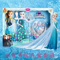 Disney Frozen Princess Doll Fairy Fantasy Girl DIY Toy Handmade Dress Up Action Figures Toy Model For Kids Rubber Birthday Gift