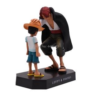 Image 2 - Anime une pièce quatre empereurs Shanks chapeau de paille Luffy PVC figurine daction aller joyeux poupée modèle à collectionner jouet cadeau de noël