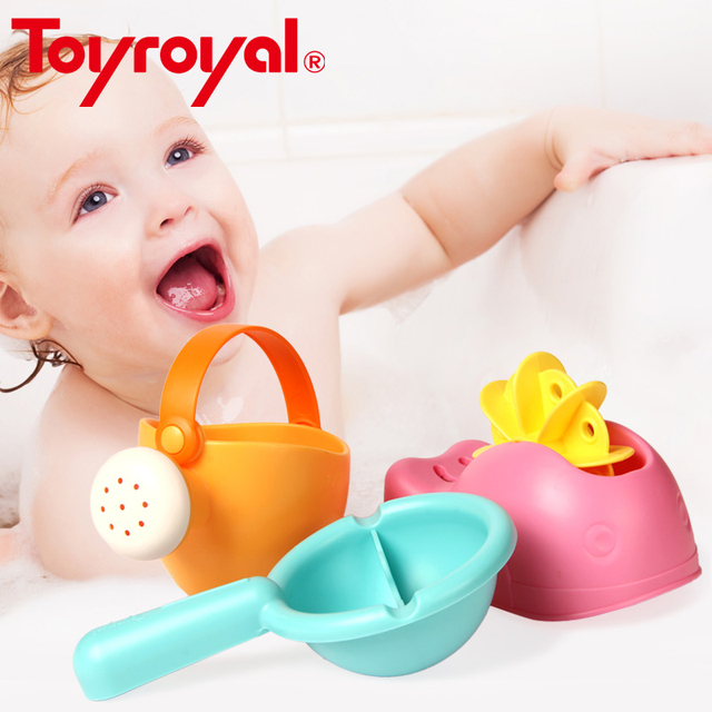 Toyroyal Baby Bath Toys Spraying Float Squirt Water Game Flexible Classic Toy for Children Infant Toddler Kids Gift Water Wheel