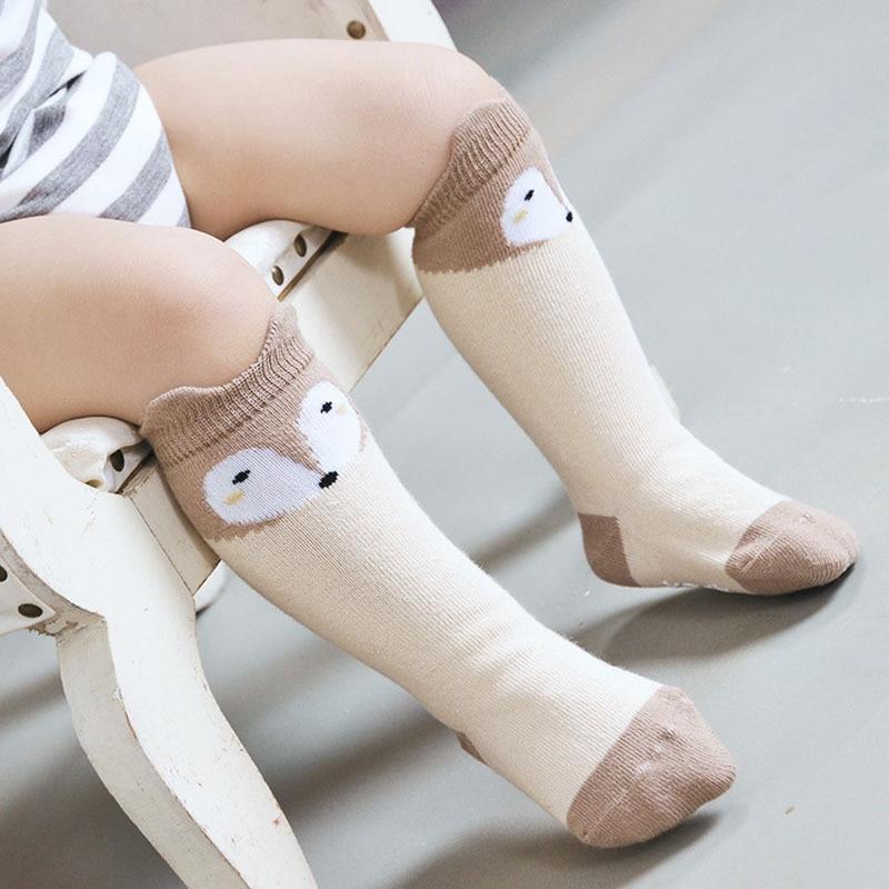 New Design 3 Colors Cotton Knee Baby Socks Winter Fall Cute Boys Girls Socks