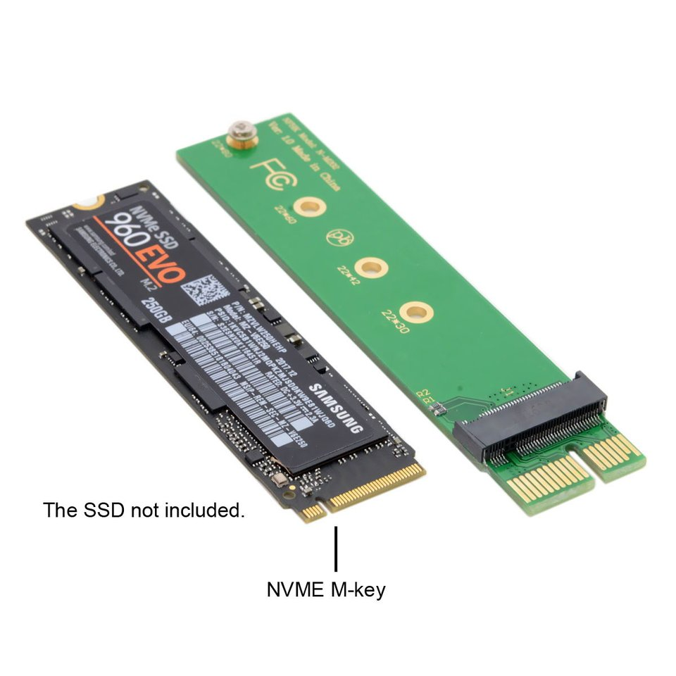CY NGFF M-key NVME AHCI SSD to Motherboard PCI-E 3.0 16x 4x Adapter for XP941 SM951 PM951 970 960 EVO SSD