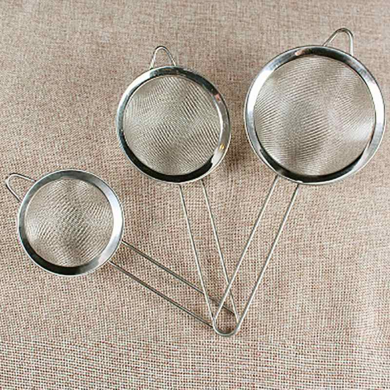 Stainless Steel Wire Fine Mesh Oil Strainer Flour Sifter Sieve Colanders DIY Kitchen Tools for filtering food