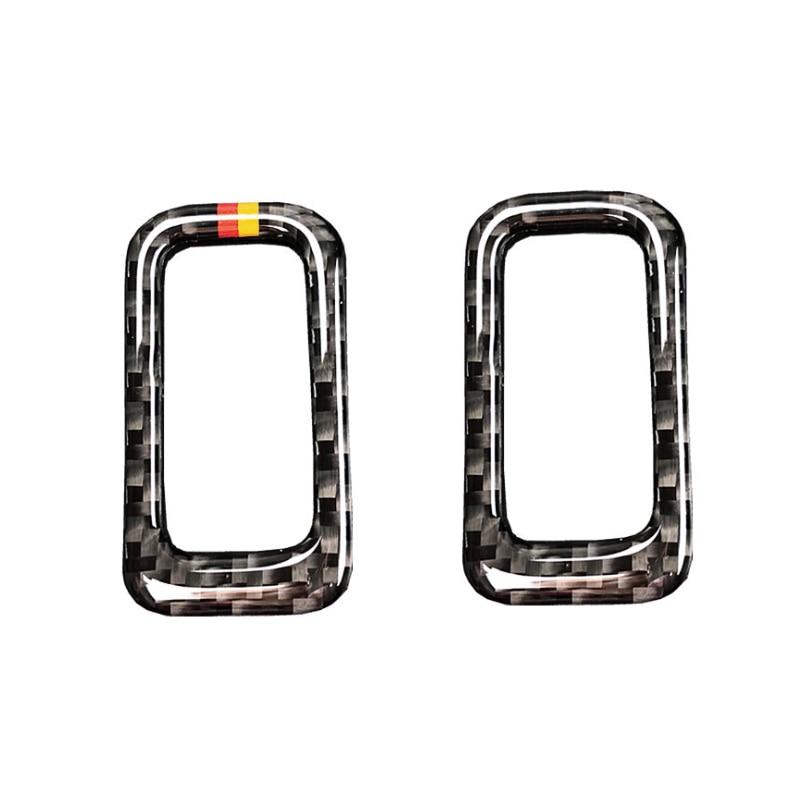 For Mercedes Benz C Class W205 C180 C200 C300 GLC260 Carbon Fiber Car Rear Trunk Switch Button Frame Cover