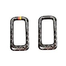 Dla Mercedes Benz C klasa W205 C180 C200 C300 GLC260 z włókna węglowego tylny włącznik bagażnika samochodu rama przycisku pokrywa