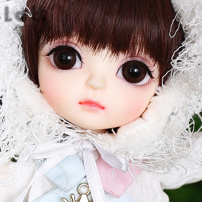 Nuovo Arrivo Lati Giallo Felice 1/8 BJD SD YoSD Doll di Alta Qualità Sveglio Della Ragazza Giocattoli Bambola Congiunta-in Bambole da Giocattoli e hobby su  Gruppo 2
