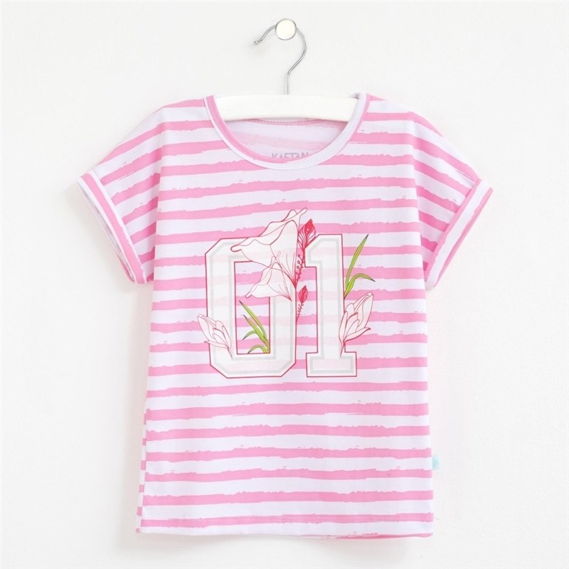 T Shirt 01 stripe 3 6g. 100% cotton turndown collar color block panel stripe graphic shirt