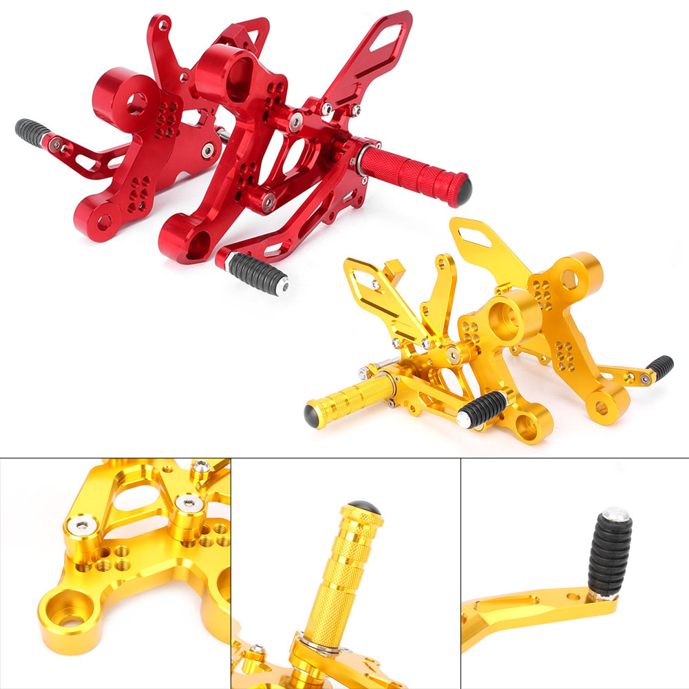 For Yamaha MT09 FZ09 2014 2015 2016 Adjustable Rear Set Foot Pegs Footrests Bracket Kit Motorbike Spare Parts Accessories
