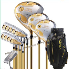 цена на Golf Clubs Complete Set OEM  Honma Bere S-05 4 star golf club sets Driver+Fairway+Golf iron+putter(14piece)and bag free shipping
