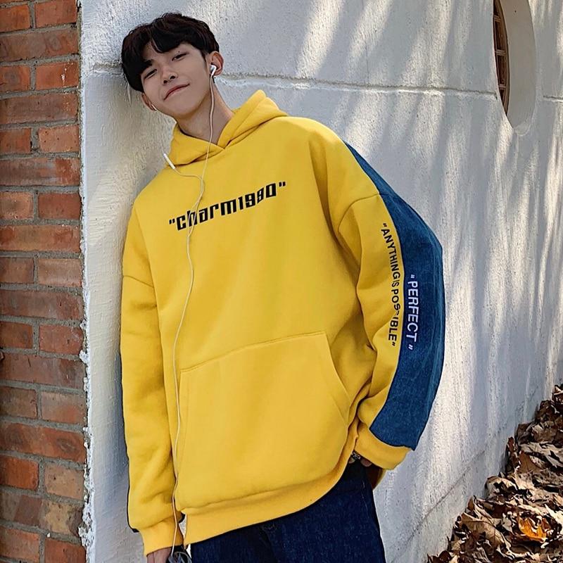 Winter Nieuwe Hoodies Mannen Warme Dikke Katoenen Mode Hooded Sweater Man Hip Hop Streetwear Lange Mouw Trui Mannelijke Kleren