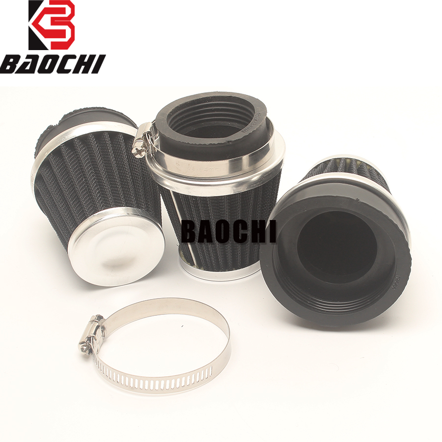 2PC Universal Motorcycle Air Filter 35/37/47/48/49/50/51/52/53/54/55/60MM Escape Head Cleaner System for Off-road ATV Pit Bike