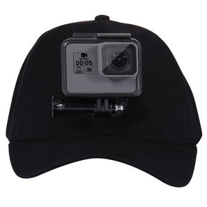 Image 5 - For Go Pro Accessories Outdoor Sun Hat Topi Baseball Cap with Holder Mount for GoPro HERO5 HERO4 Session HERO 5 4 3 2 1 black
