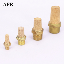 10pcs/lot M5 1/8 1/4 3/8 1/2 Brass Exhaust Muffler Pneumatic Silencers Fitting Noise  BSLM5 BSL01 BSL02 BSL03 BSL04