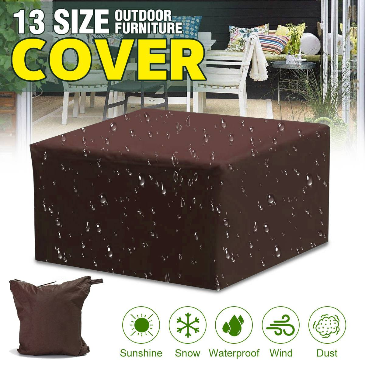 Waterproof Outdoor Patio Garden Furniture Covers Cover Rain Snow Chair Covers For Sofa Table Chair Dust Proof Cover