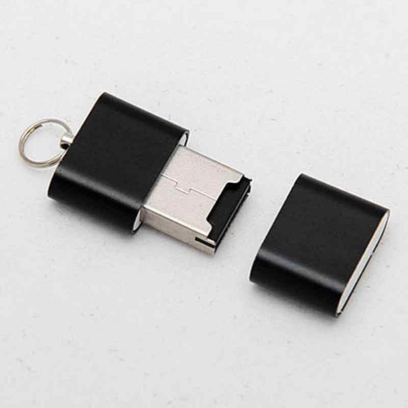 Mini leitor de cartão usb 2.0, portátil, micro leitor de cartão de memória tf
