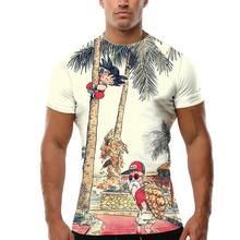 ZACOO Men 3D Cartoon Figure Pattern Short Sleeve T-shirt