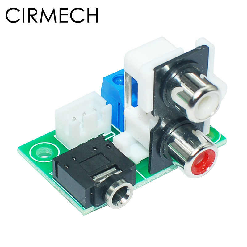 CIRMECH Audio adapter koptelefoon Jack 3.5mm Audio Socket PCB Adapter naar 2.54mm RCA naar 3pin