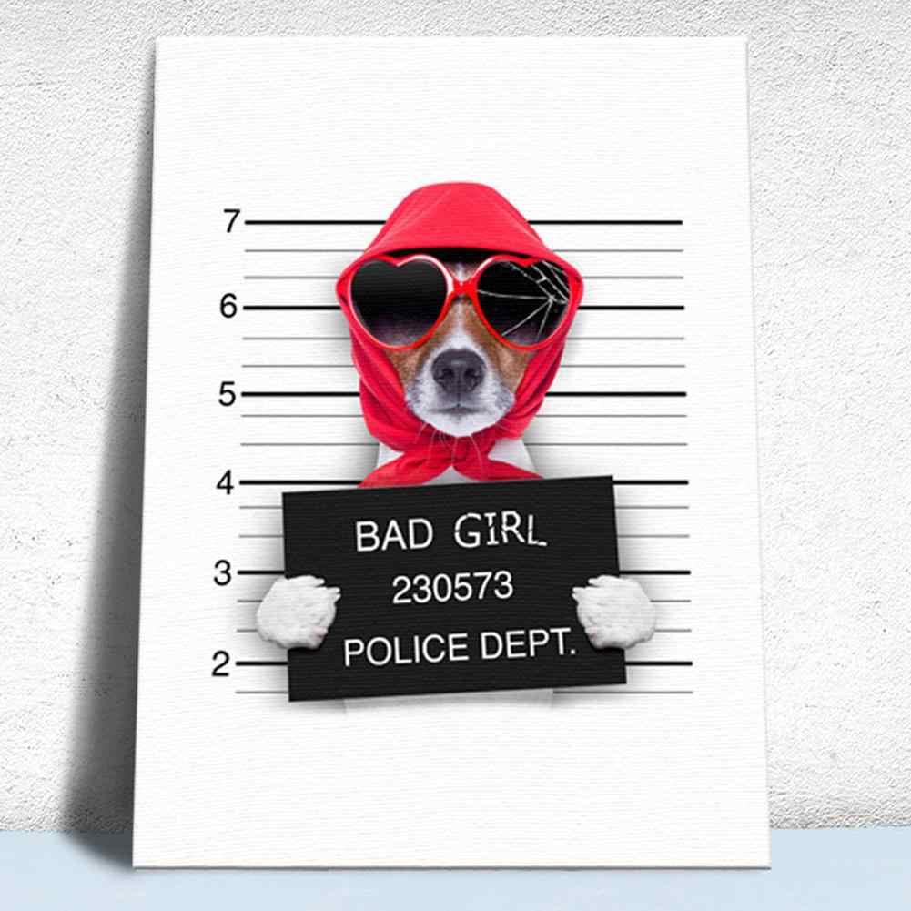 Innovatieve Hond Bulldog Slaapkamer Woonkamer Decoratie Schilderen Nachtkastje Tekening Thuis Art Decoratief Schilderen Zonder Frame