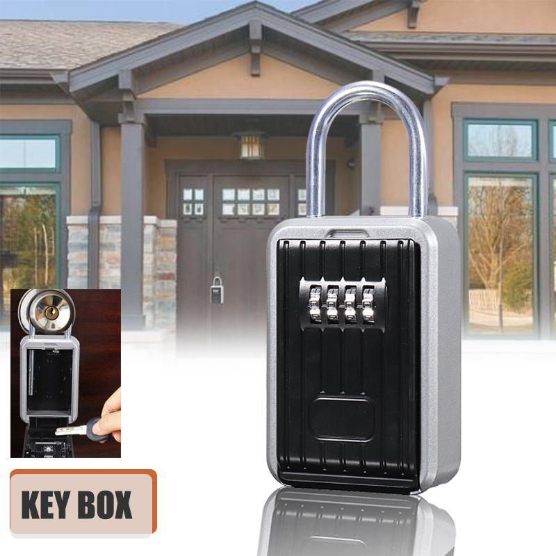Hide Key Box Smart Password Lock Locker Door Hide Storage Box Case Outdoor Home Safe Aluminum Alloy lock for homeHide Key Box Smart Password Lock Locker Door Hide Storage Box Case Outdoor Home Safe Aluminum Alloy lock for home
