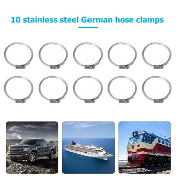 10pcs Stainless Steel Hose Clips Worm Drive Fuel Hose Pipe Clamps 70-90mm Automobiles And Motorcycle silver Accessories