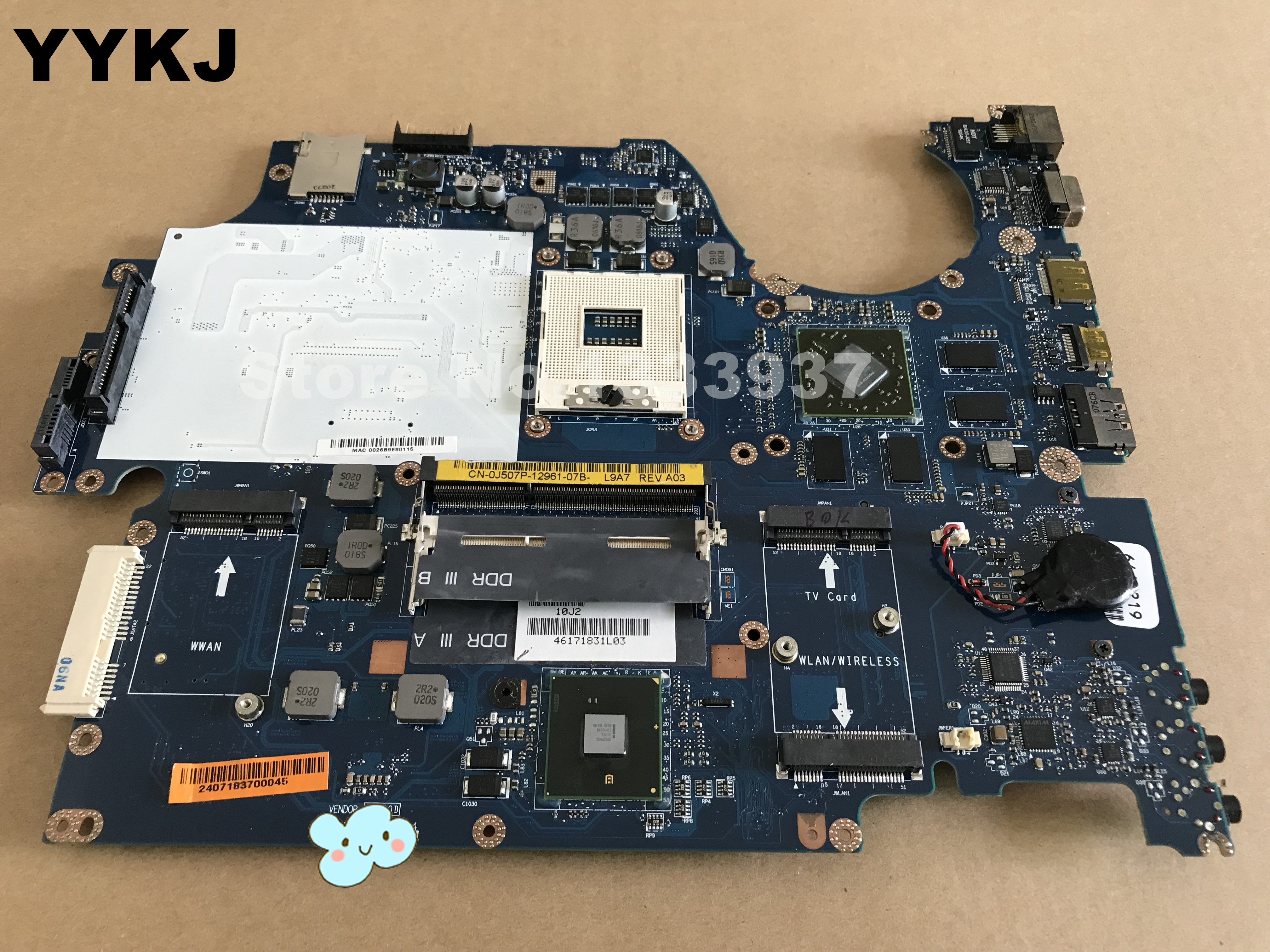 For DELL 17 1747 laptop motherboard LA-5153P CN-0J507P J507P 100/% tested