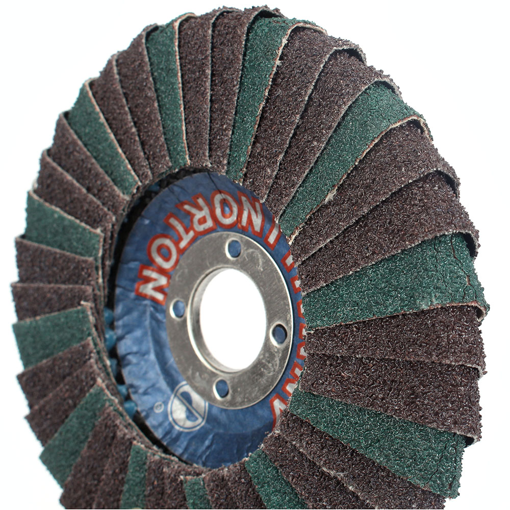 4''100mm Abrasive Flap Disc, Radial Shape, Round Hole, Phenolic Resin Backing, Zirconia Alumina,5Pcs