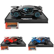 1:32 New Bugatti Alloy Model Car Sound And Light Pull Back Toy Car Exquisite Style With Base Collection Model Children's Toys(China)