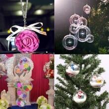 15 Pieces Transparency Christmas Balls Party Plastic Hanging Ball Bauble Candy Case Xmas Tree Decor Home Decoration 4cm 5cm 6cm