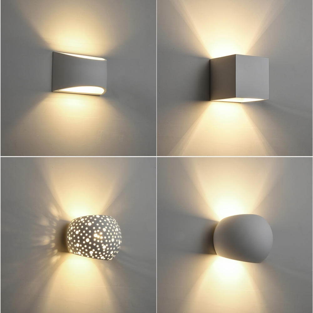 Modern LED Plaster Wall Light Creative Gypsum Sconce Lamps With 5W G9 LED Bulb Indoor Decoration Lights Warm White LED Wall Lamp цена