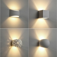 Modern LED Plaster Wall Light Creative Gypsum Sconce Lamps With 5W G9 LED Bulb Indoor Decoration Lights Warm White LED Wall Lamp