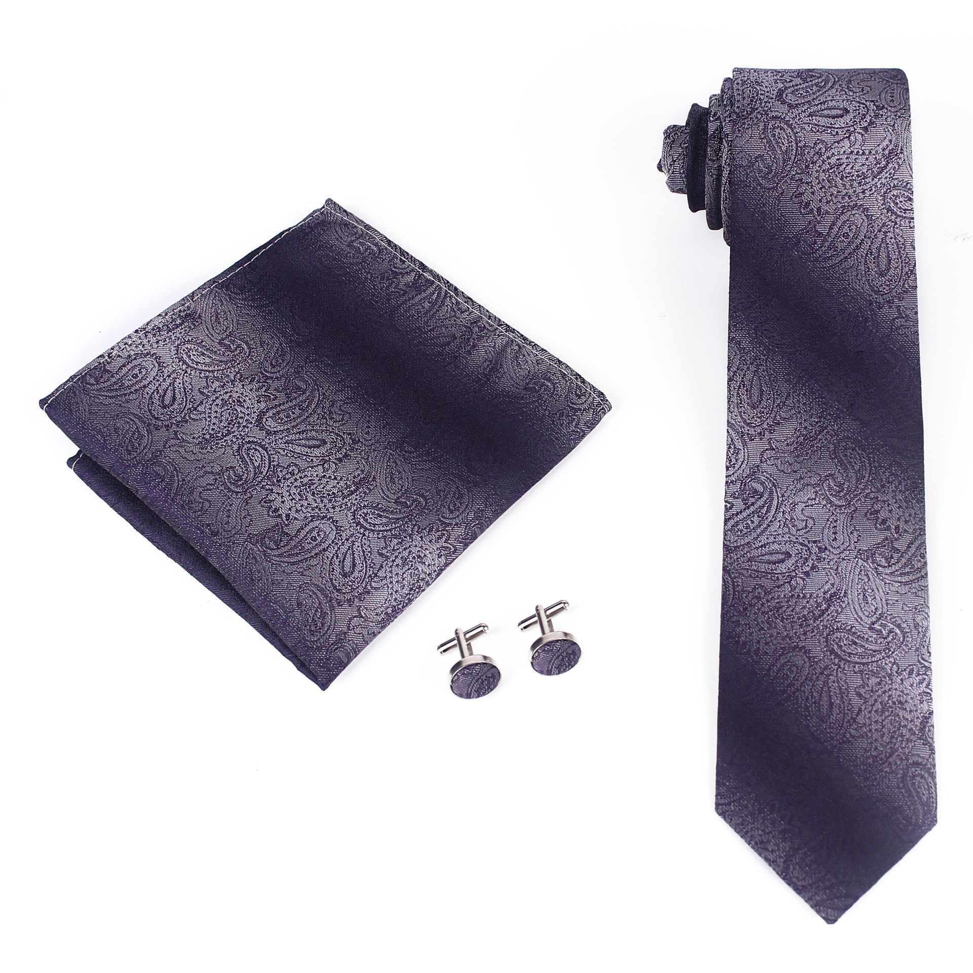 Mantieqingway дешевые темпераментные мужские вечерние деловые рабочие платья сплошной цвет темный темперамент квадратный шарф Запонки галстук набор