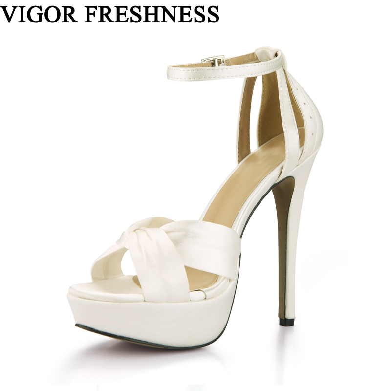 VIGOR FRESHNESS Summer Sandals Woman Shoes14CM Extreme High Heels Party Women Summer Shoes Ladies Gladiator Sandals Fashion CG02