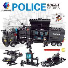8 en 1 de la policía de la ciudad de Serie estación de policía bloques de  construcción de bricolaje ladrillos juguetes educativo. db2dc4f1c00