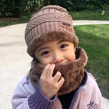 f7403453175 2pcs Kids Winter Warm Knitted Hat beanies Scarf cotton Children Cap and  Circle Scarves skin-
