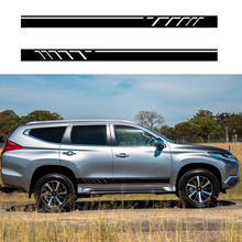 car stickers 2pc side body cool racing stripe graphic vinyls accessories decals custom for mitsubishi pajero sport