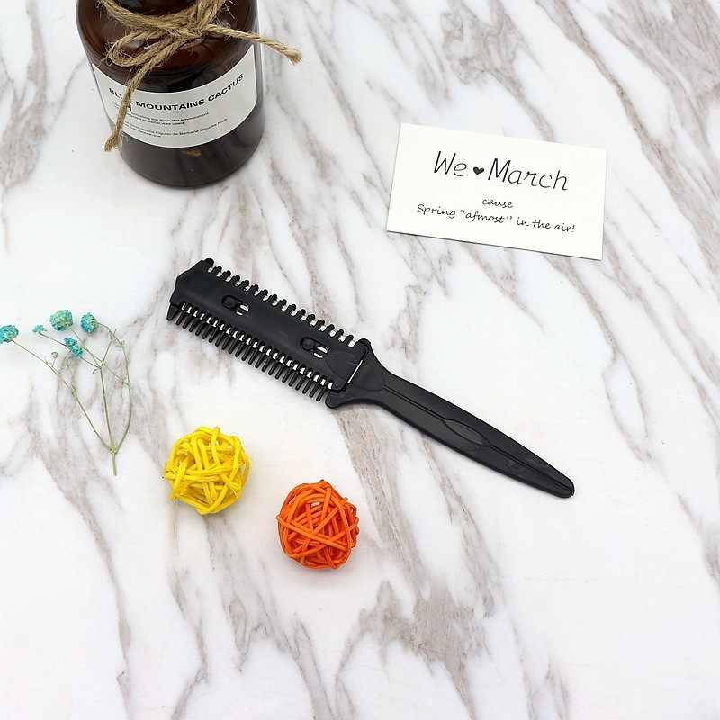 Парикмахерская расческа для волос с лезвием инструменты для ножниц челка щетка парикмахерские триммеры лезвия для бритья Резка истончение красота стиль