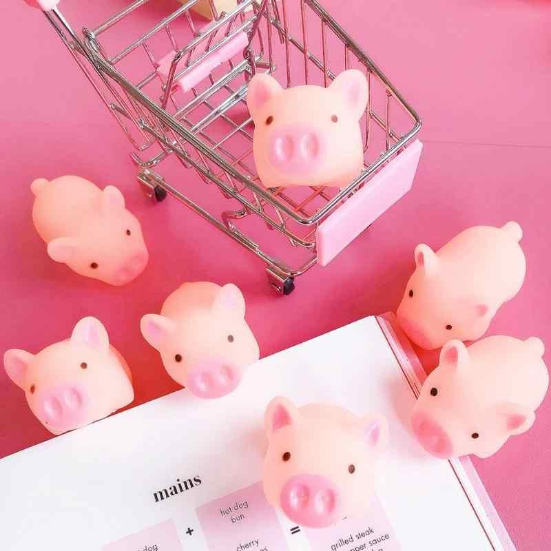Silicone Giocattoli Spremere Rosa Maiale di Cartone Animato Antistress Giocattolo Piggy Suono Stress Relief Giocattolo Divertente Per Bambini Regalo