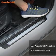 Car styling  Carbon Fiber Mouldings Strip Bumper Decorative Strips Door Sill Protection For Lada Vesta