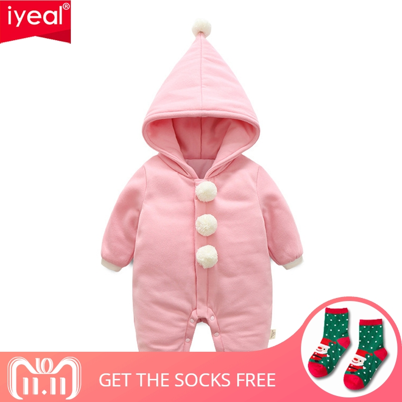 IYEAL Newborn Baby Coveralls Winter Baby Clothes Romper Long Sleeve Warm Infant Girl Boy Clothes Kids Overalls Kid Baby Jumpsuit baby boy rompers cotton newborn baby clothes bateman superman kid girl clothes long sleeve baby boy clothing set infant jumpsuit
