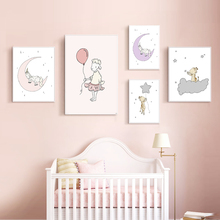 Giraffe Star Balloon Nursery Nordic Posters and Prints Lamb Wall Art Canvas Painting Wall Pictures Baby Girl Boy Room Decor balloon whale panda wall art canvas painting nordic posters and prints wall pictures for kids bedroom baby boy girl room decor