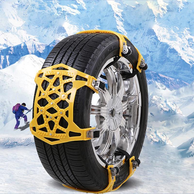 Nouveau 6 pièces voiture anti-dérapant chaîne épaississement élargi chaînes de pneus neige Chai avec gants clé fou Shopping jour en dessous du prix de revient