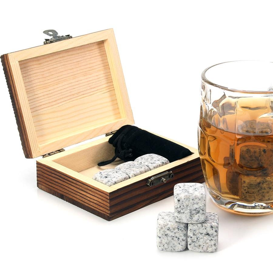 Set of 9 Granite Whiskey Stones