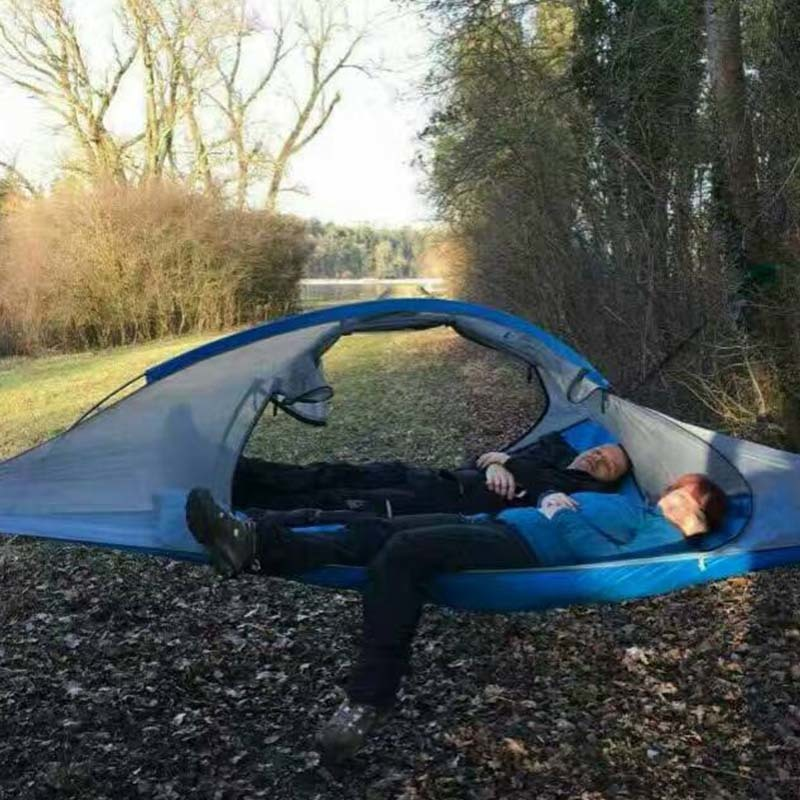 Family Outdoor Camping Hiking Tree Tent 2 Persons Ultralight Traveling Tree Hammock Bed Three Trees Hanging