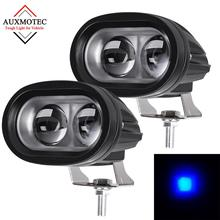 2pcs 4D Spot Led Forklift Warn Safety Work Driving Light Spotlight Truck Lamp Warehouse Safe 12V 60V 10v-80v