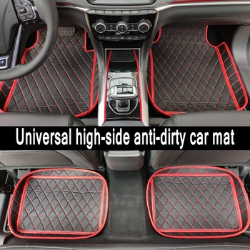 ZHAOYANHUA Universal car floor mats car fit LHD and RHD All Models BMW E46 E90 E91 E92 E93 F30 F31 F34 GT image