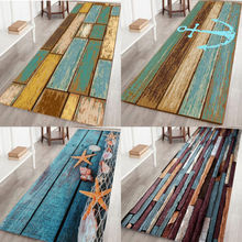 Felpudo para el suelo de la ducha del baño de la cocina Faroot, alfombra de madera antideslizante vintage
